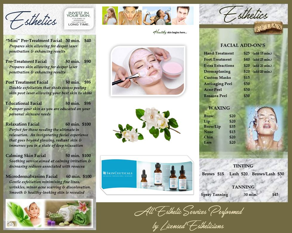 Esthetician Services The Dermatology Clinic